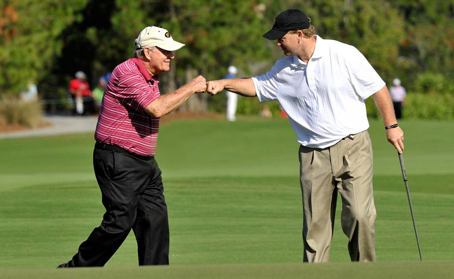 Jack and Gary Nicklaus from the 2012 Father/Son Challenge