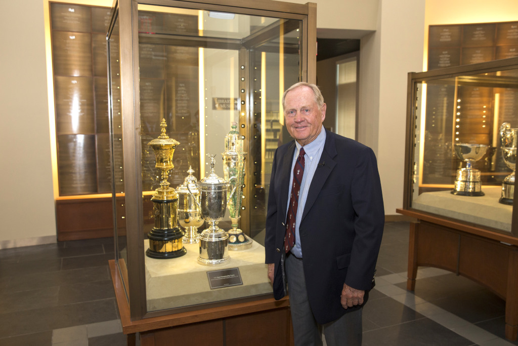 Jack Nicklaus as seen in the Hall of Champions during the The Jack Nicklaus Room Opening at United States Golf Association in Far Hills, N.J. on Wednesday, May 27, 2015.  (Copyright USGA/John Mummert)