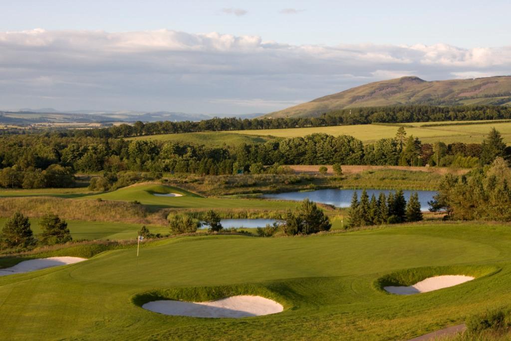 The PGA Centenary Course's 8th green at Gleneagles Resort