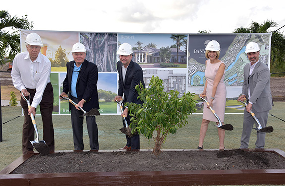 Jack Nicklaus breaks ground on Banyan Cay Resort & Golf, a Noble House Hotels & Resorts managed property in West Palm Beach, Florida