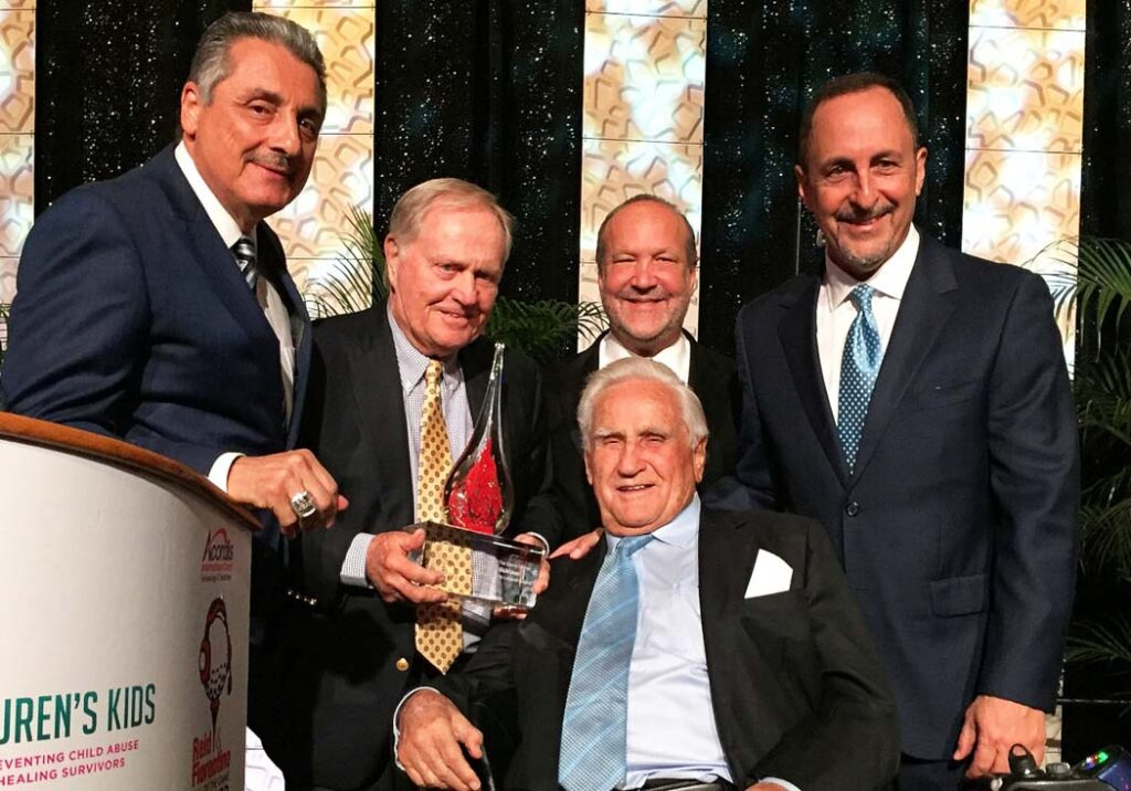 Jack Nicklaus, The Don Shula Sports Legend Award, Tony Fiorentino, Don Shula, Ron Book, Don Shula, Eric Reid