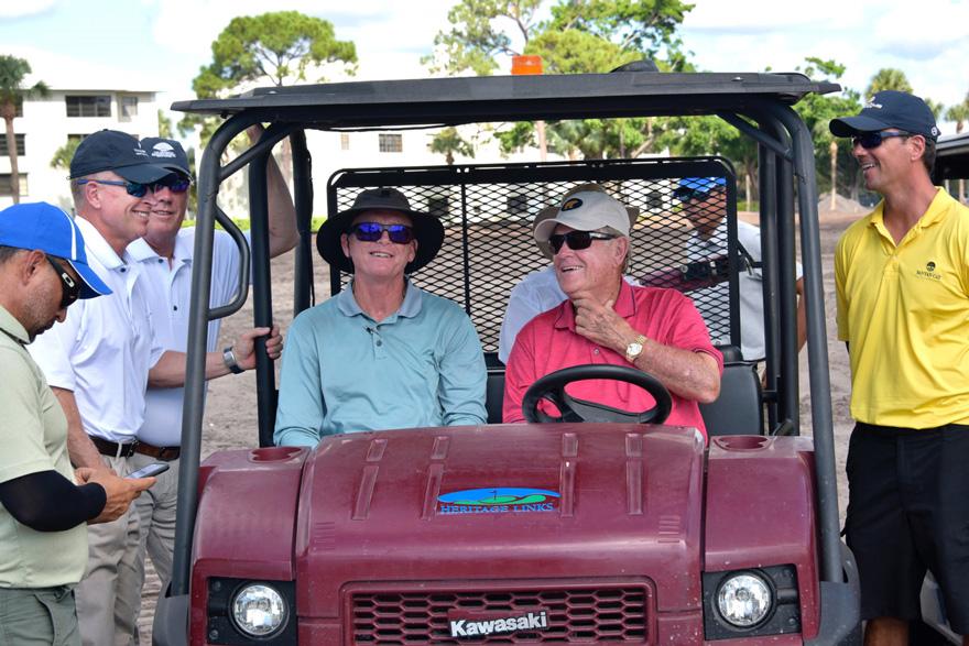 Jack Nicklaus site visit at Via Mizner Golf & City Club