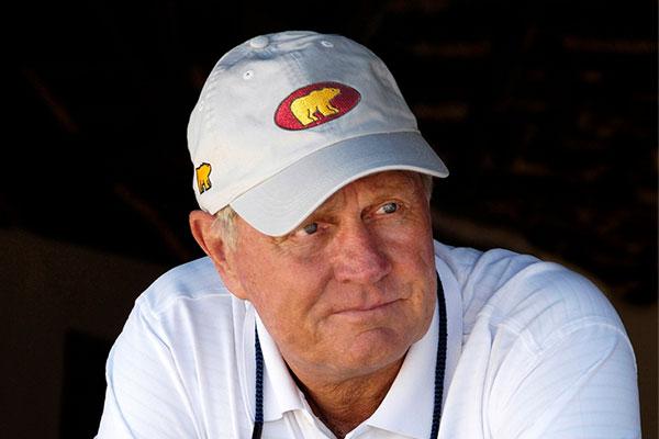 Jack Nicklaus wearing Ahead Hat