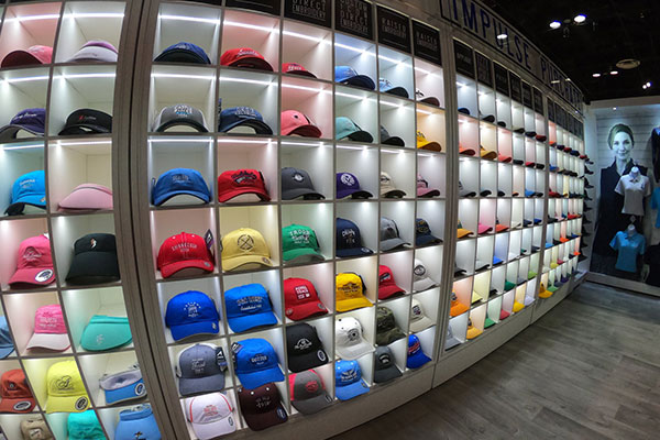 Ahead Hat stand at PGA Show