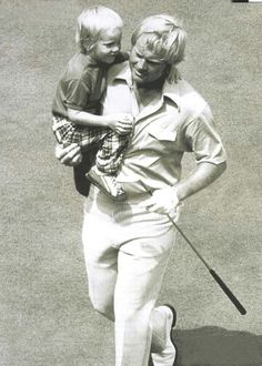 One of Jack's favorite photos: The Golden Bear carrying 4-year-old son Gary off the 18th green at Canterbury after the second round of the 1973 PGA Championship.