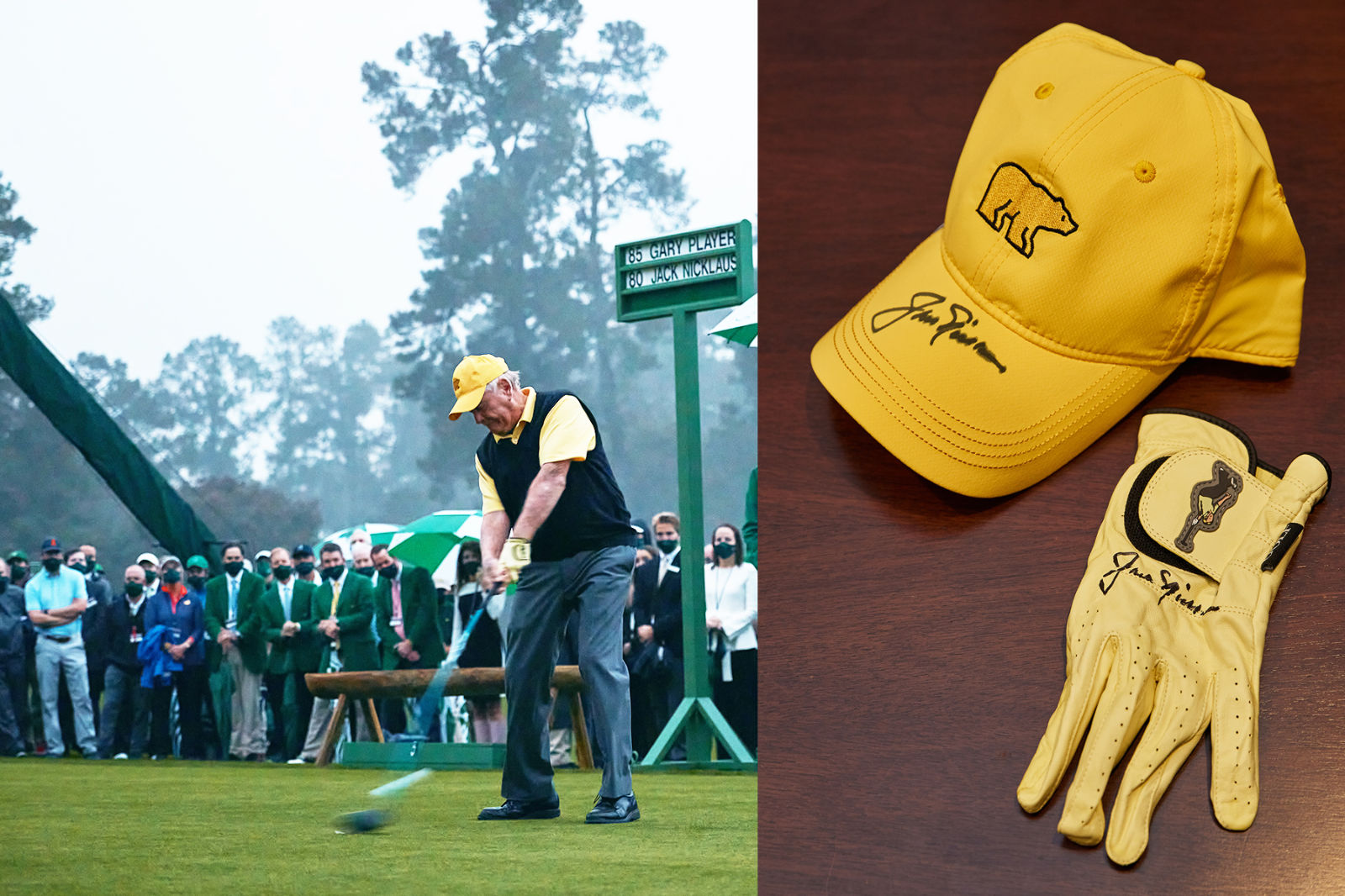 Jack at the Masters play yellow